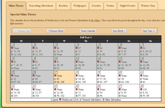 Stardew Calendar.Stardew Predictor